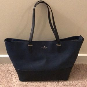 Kate Spade Two-toned Navy Tote